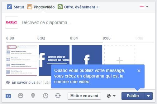 Comment créer un slideshow sur Facebook ?
