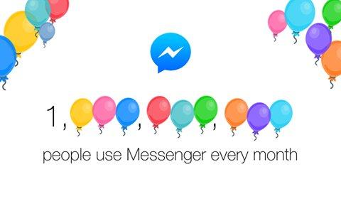 Facebook Messenger atteint la barre de 1 milliard d'utilisateurs