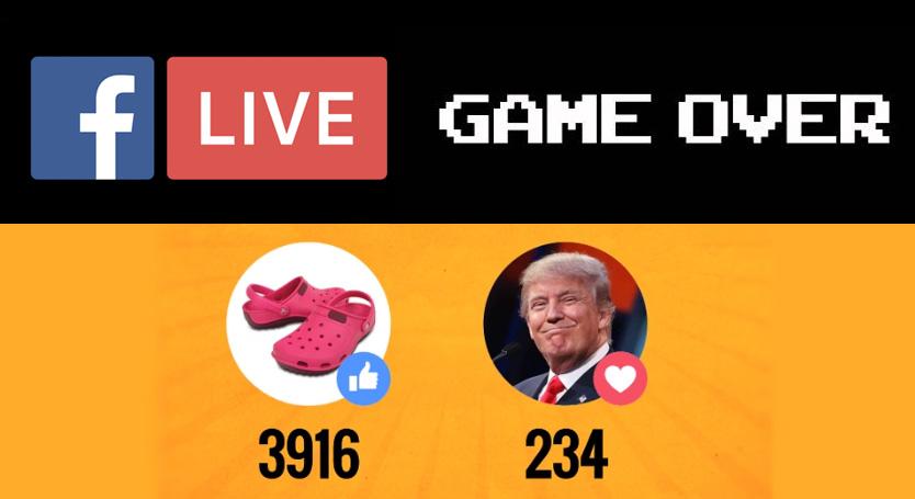 Facebook réagit aux sondages Live
