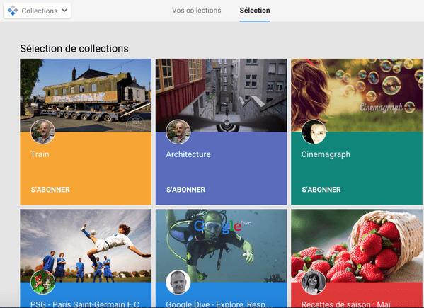 Google lance officiellement les collections sur son réseau social Google+