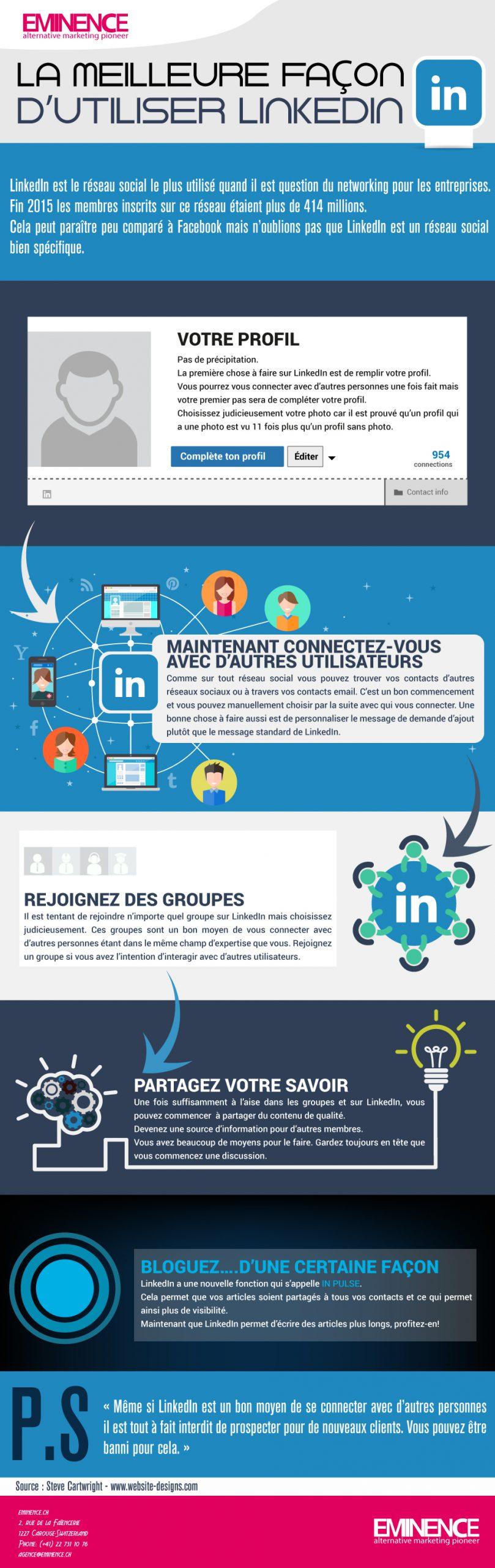 Infographie-#5-La-meilleure-façon-d'utiliser-LinkedIn-geneve