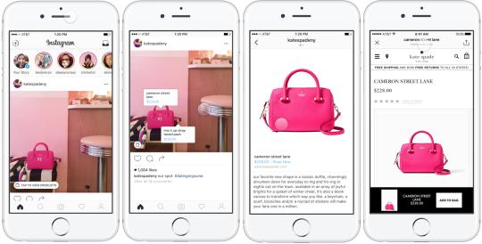 Instagram met en place la fonctionnalité d'identification de produits