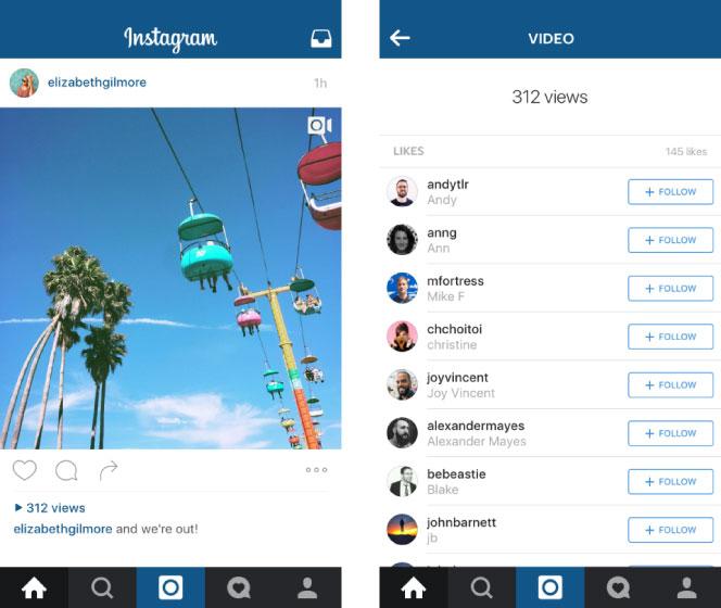 La mention « vues » débarque sur Instagram