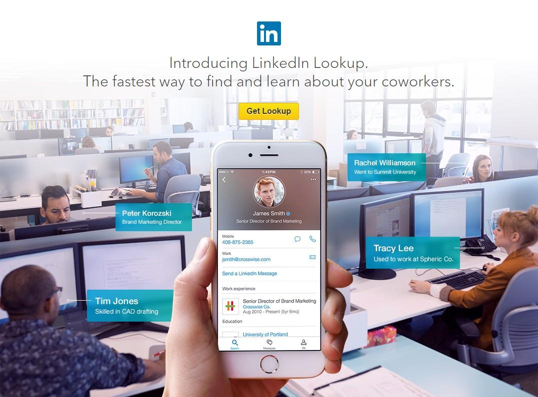 Linkedin une nouvelle application nommée « Lookup »