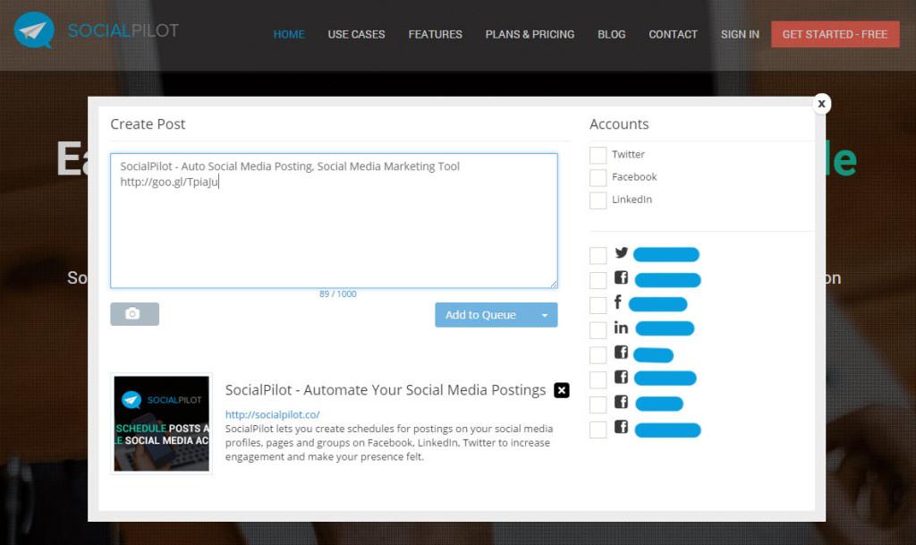 Nouvel outil de partage sur les RS - SocialPilot