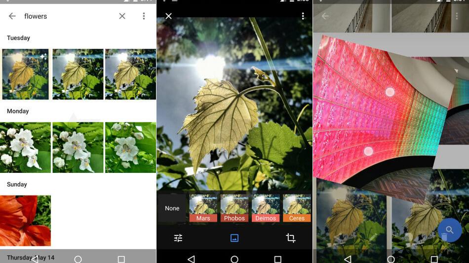 Quelques images de la nouvelle application Google Photos