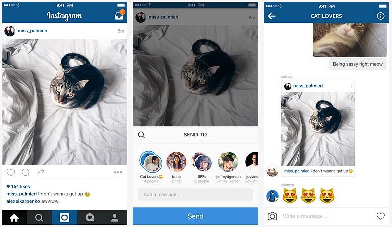 Instagram Direct : une nouvelle version de sa messagerie