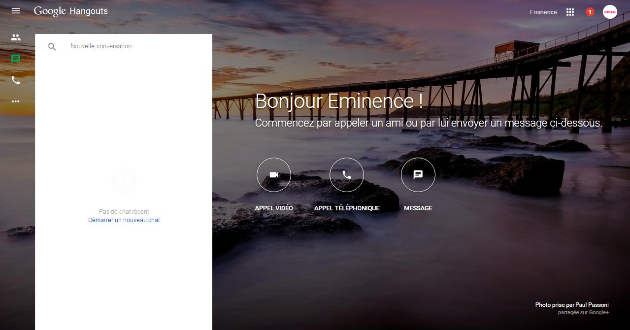 Une version desktop pour Google Hangouts