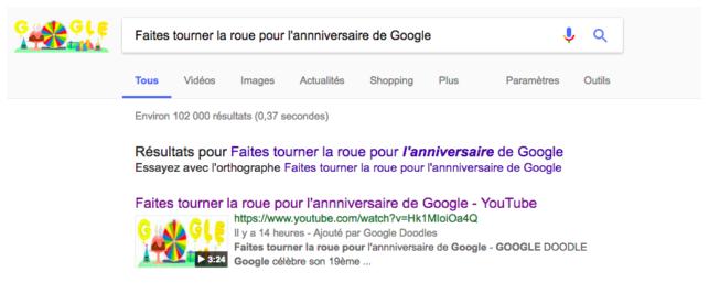 anniversaire google