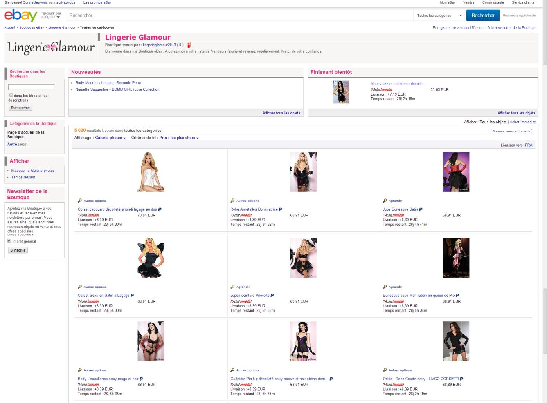 ebay lingerie glamour 1
