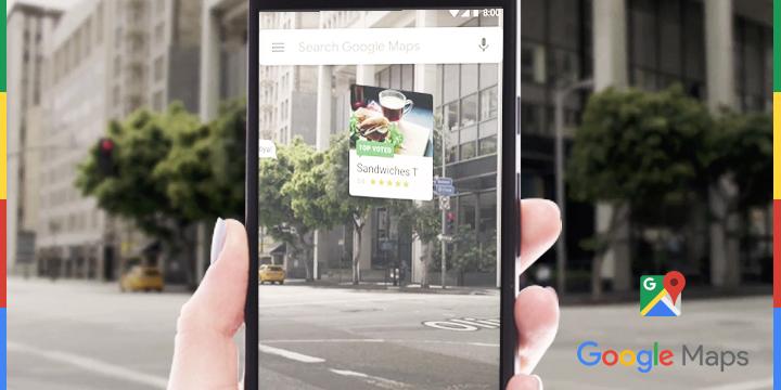Réalité augmentée Google Maps