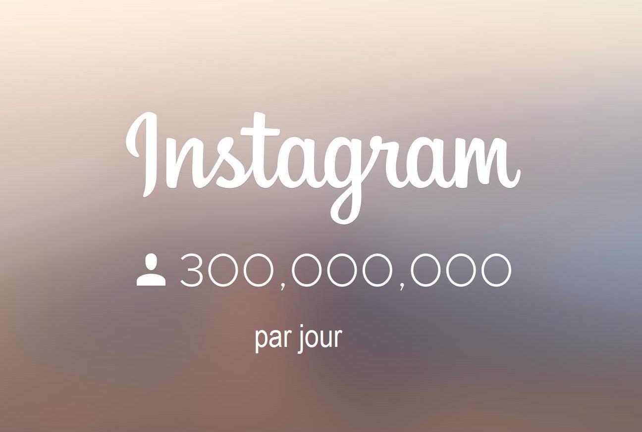 Instagram poursuit son ascension avec 300 millions d'utilisateurs par jour !