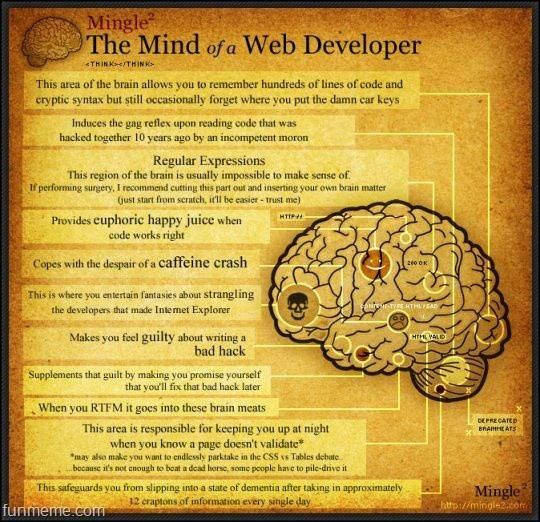 mind of a web developer