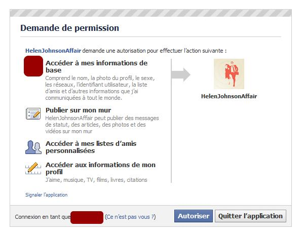 permission d'application