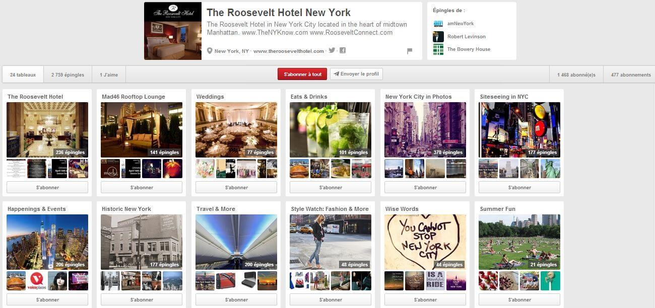 pinterest pour hotels