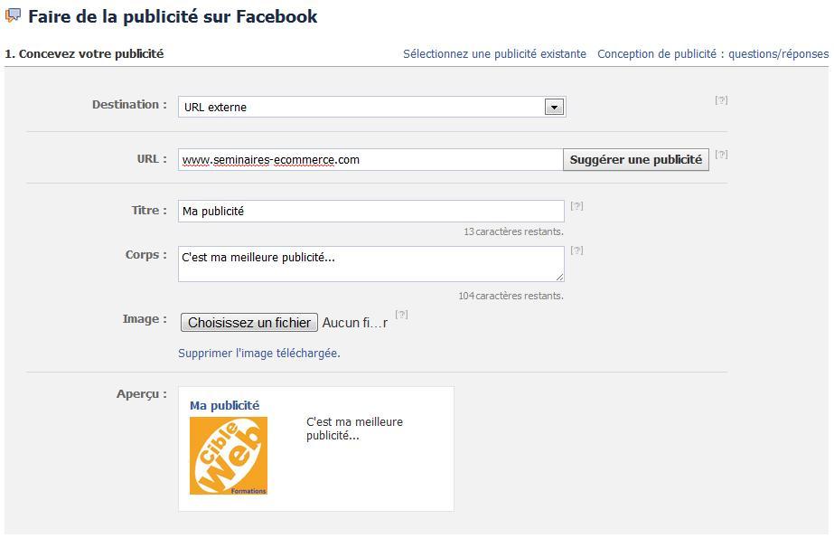 facebook ads promotion site internet