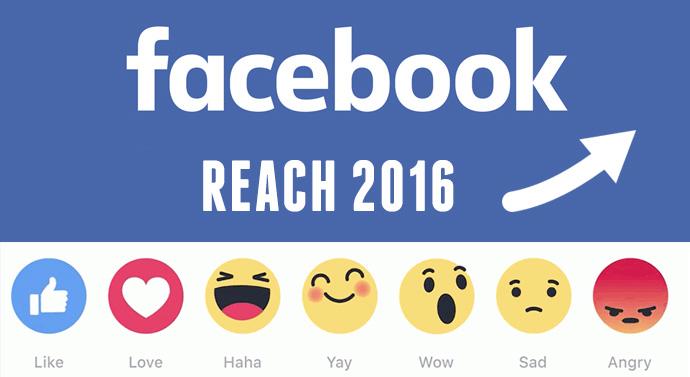 Hausse constante de la portée organique des pages Facebook