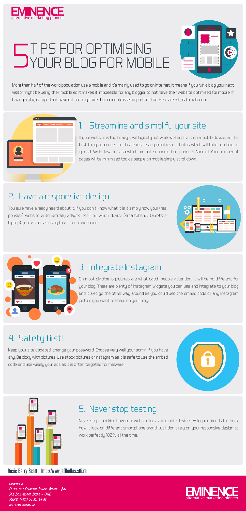 5-Tips-for-Optimising-Your-Blog-for-Mobile-infographie