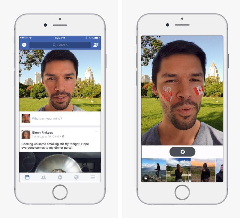 Les stickers et les filtres photos débarquent sur Facebook