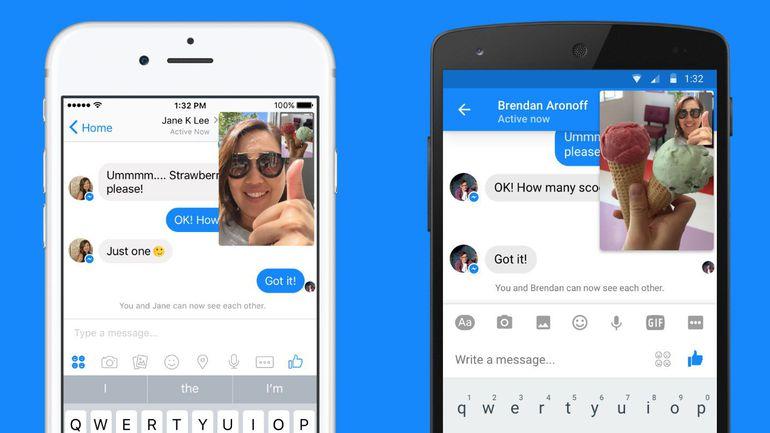 Des Instants Vidéos disponibles sur Facebook Messenger