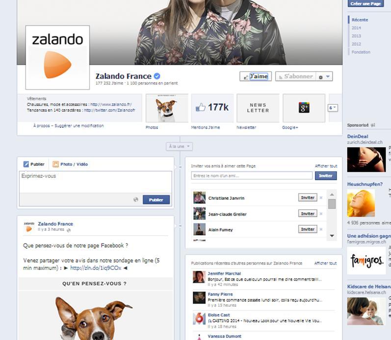 facebook zalando