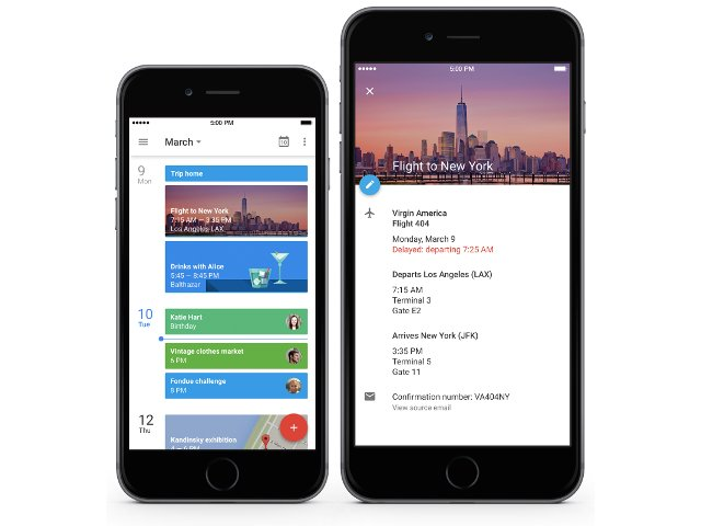 Google Agenda sur iOS