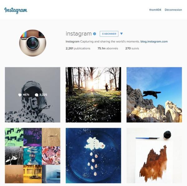 Nouvelle version d'instagram sur desktop !