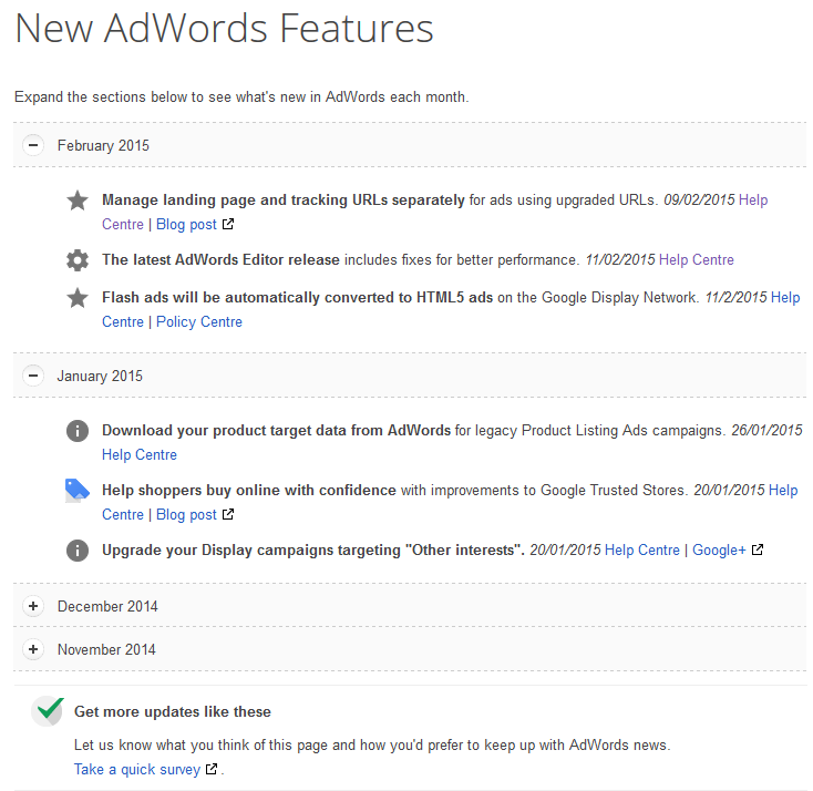 new adwords features