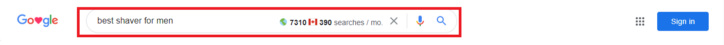 Find search volume in Google