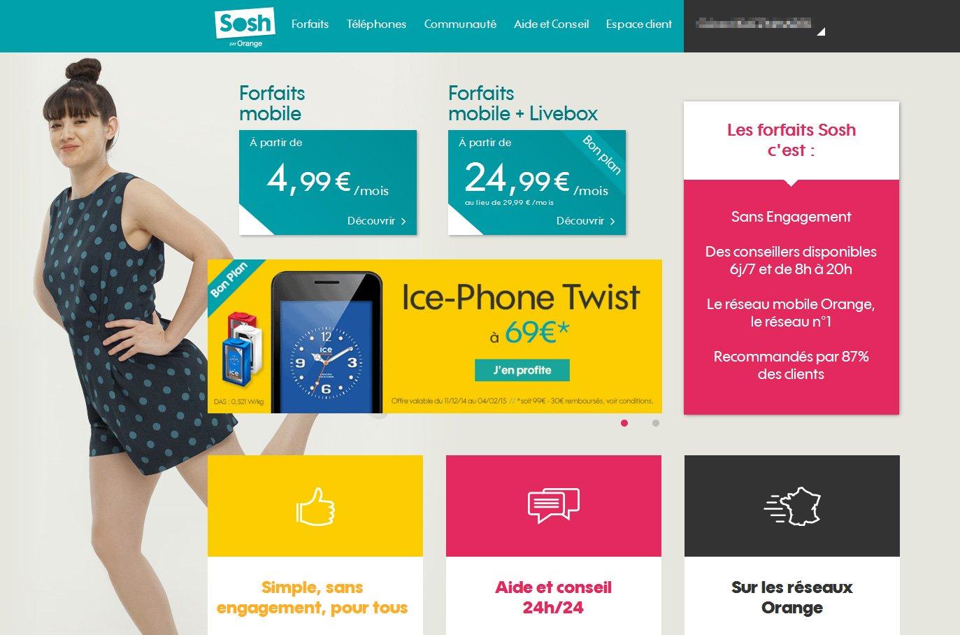 sosh- Site en mosaique